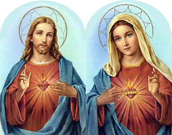 Sacred Heart Jesus and Mary